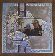 Winter 2013 Scrapbook Page by Megan Gourlay using BoBunny Altitude and Leaky Shed. #BoBunny @weemegs