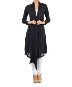 Look at this Black Open Duster on #zulily today!
