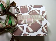 Football Premade Mini Scrapbook Album Football by HampshireRose, $20.00