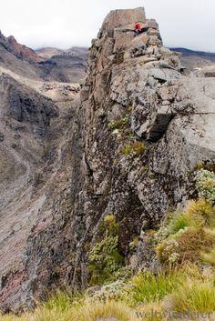Meads Wall in Whakapapa im Tongariro National Park. Hier sieht es nicht nur aus wie in Mordor, hier wurde der Herr der Ringe wirklich gedreht!
