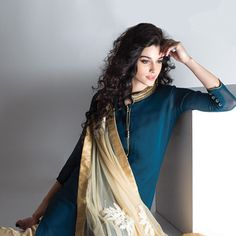#Blue Salwarkameez with Straight #Pant