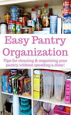Easy Pantry Organization Tips for cleaning and organizing your pantry without spending a dime! via @Mom4Real