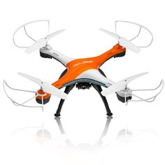 Amazon.com: Drones with Camera, OOTTOO HD 2MP Camera Drone 2.4G 4CH 6Axis RC Quadcopter Headless Mode One Key Return (UAV) Bonus Battery Helicopter--Orange: Toys & Games