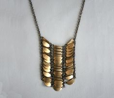{Mida Necklace} layered brass charms #styletosteal #fallfashion