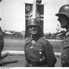 Erwin Rommel in the Paris, France victory parade, late Jun 1940