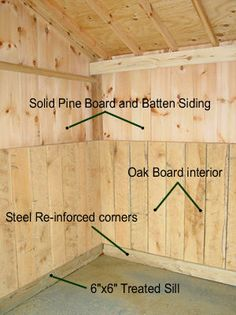 Kick boards in pasture run-in shed.