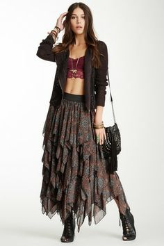 Tutu Printed Layered Skirt by Free People