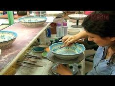 Polmedia Polish Pottery - See Polish Stoneware Being Handpainted