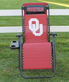 Another great find on #zulily! Oklahoma Sooners  Zero-Gravity Chair #zulilyfinds
