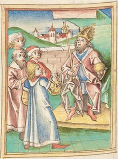 Meisterlin, Sigismundus: Augsburger Chronik, Augsburger Bischöfe, Anonyme Chronik 1368-1406 Augsburg, um 1480 4 Cod Aug 1 Folio 284