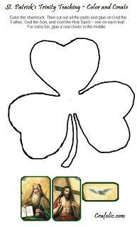 St. Patrick's Day Project ~ Trinity is like a Shamrock ~ Catholic Inspired