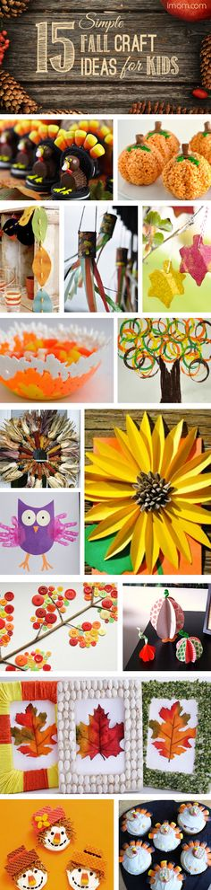 15 Simple #Fall Craft Ideas for Kids that will help create some fun family time!