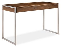 Perfect as a console table, Basis can double as a workspace. The interplay of materials and clean design create a beautiful, functional space you'll love. A drop-front drawer accommodates keyboards and laptops.