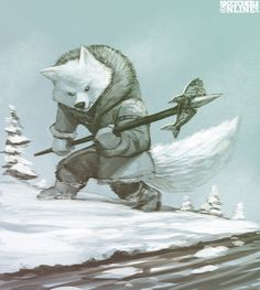 Arctic Fox by Kock Fighter Club for Sketch Dailies
