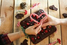 veg brownies ai lamponi e candy cane