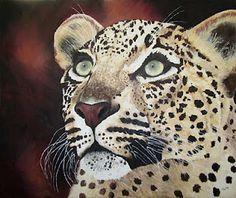 Luiperd (oil on canvas)