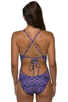 7d6b1202e7b JOLYN Printed Gavin Tie-Back Onesie - Slater Swim Team, Keep Swimming, Back