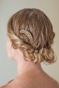 Rustic wedding hair