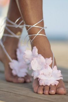 Barefoot Sandals Wedding, Wedding Shoes, Wedding Dress, Nude Shoes, Fall Flowers, White Flowers, Purple Lilac, Pink, Bridesmaids And Groomsmen