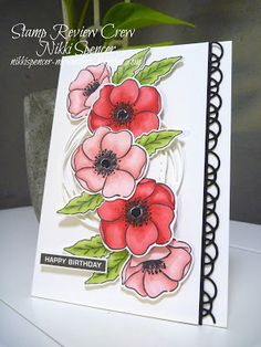 Stampin' Up! Clay Stamps, Poppy Cards, Fun Fold Cards, Stamping Up Cards, Flower Cards, Creative Cards, Greeting Cards Handmade, Scrapbook Cards, Homemade Cards