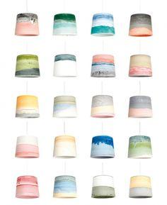 Beautiful colour combos - Lampes Rainbow par Julien Renault pour Colonel