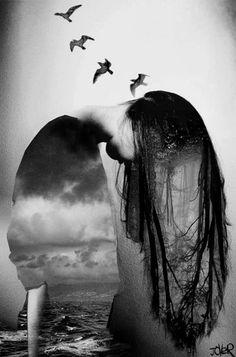 'y libertad' by Loui Jover Underwater Photography, Art Photography, Gothic Photography, Levitation Photography, Surrealism Photography, Winter Photography, Deviant Art, Canvas Art, Canvas Prints