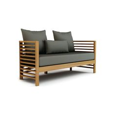 FormOutdoors - Live Outdoors Seasonal Living Spirals Loveseat #teak #wood #outdoorfurniture #outdoordesign #outdoorlloveseat #outdoorseating #outdoorcouch #modern