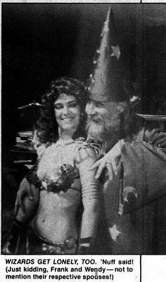 """Wendy Pini and Frank Thorne in """"Savage Sword of Conan"""" (october 1977) (Photo by Chris Padovano e Bob Pinaha) #RedSonja"""