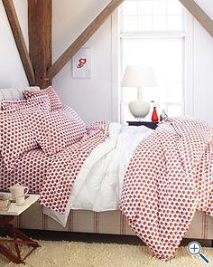cute apple bedding at Garnett Hill