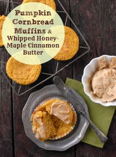 Pumpkin Cornbread Muffins with Whipped Honey-Maple Cinnamon Butter | BoulderLocavore.com #glutenfree #thanksgiving