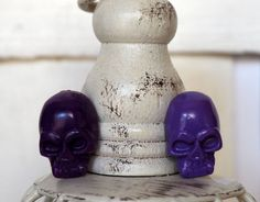 Lilac Skull Cufflinks Lilac and Purple by BijHotGallery on Etsy
