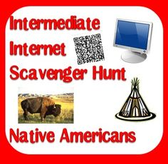 An internet scavenger hunt is similar to a webquest, in that students will use the internet to find information. This internet scavenger hunt has three possible formats, including clickable links and qr codes. Help your students learn about all the different tribes of Native Americans with this great resource from Raki's Rad Resources, just $3.00