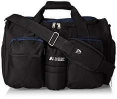 Everest Gym Bag with Wet Pocket Navy One Size *** Learn more by visiting the image link.Note:It is affiliate link to Amazon.