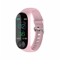 Montre intelligente de fréquence cardiaque Heart Rate Monitor, Baskets, Sport Mode, Smart Bracelet, Legging, Fitness Watch, Watch Model, Burn Calories, Pink Color