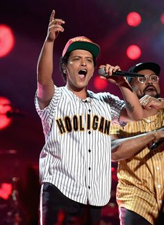 Bruno Mars Photos Photos - Bruno Mars performs onstage at 2017 BET Awards at Microsoft Theater on June 25, 2017 in Los Angeles, California. - 2017 BET Awards - Roaming Show