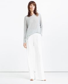 karien anne - my style - grey marl top with slits / long sleeve t-shirt