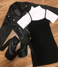 Best Edgy Outfits Part 5 Teen Fashion Outfits, Edgy Outfits, Cute Casual Outfits, Mode Outfits, Retro Outfits, Grunge Outfits, Look Fashion, Korean Fashion, Summer Outfits