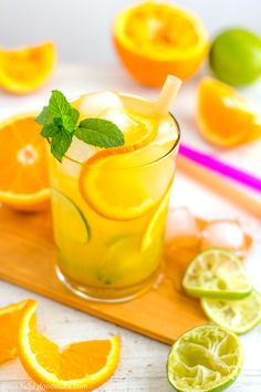 Cuban Orange Mojito Recipe - Ultimate summer cocktail! Only 5 ingredients and super easy to make! | happyfoodstube.com