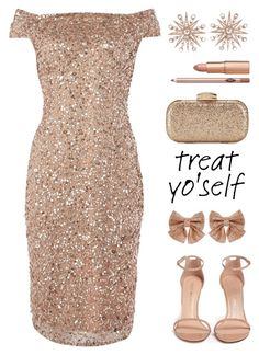"""It's Time to Treat Yo'Self!"" by rasa-j ❤ liked on Polyvore featuring Colette Jewelry, Stuart Weitzman, Monsoon, Adrianna Papell, womensFashion and treatyoself"