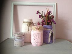 VINTAGE DISTRESSED JARS Home Decor by AnnmarieFamilyTree on Etsy