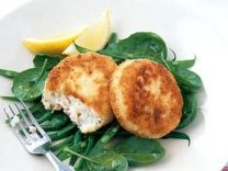 Salmon cakes with Chilli Remoulade - recip at www.homelife.com.au