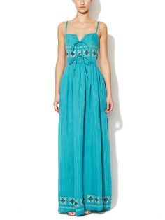 Mila Embroidered Maxi Dress
