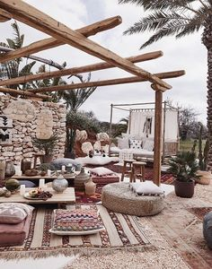 Bohemian Outdoor Patio And Garden You are in the right place about Rooftop Garden commercial Here we Casa Patio, Backyard Patio, Pavers Patio, Patio Roof, Outdoor Spaces, Outdoor Living, Outdoor Decor, Garden Items, Terrace Garden