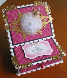 Couture Creations: A Little Birthday Wish Gift Box by Jo Piccirilli   #couturecreationsaus #decorativedies #embossingfolders #nestingdies