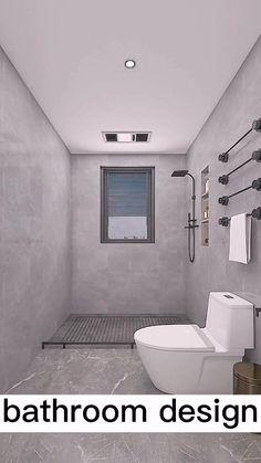 Small Room Design Bedroom, Small Space Bathroom, Home Room Design, Bathroom Layout, Small House Design, Modern Bathroom Design, Washroom Design, Toilet Design, Bathroom Design Luxury
