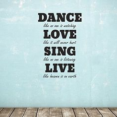 Dance, Love, Sing, Live Wall Sticker - Quote Wall Decal ZygoMax http://www.amazon.co.uk/dp/B00WSSYX46/ref=cm_sw_r_pi_dp_dT3pvb1C325DM