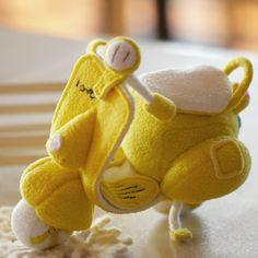 Magia Siqi Bu DIY Kits de tela hecha a mano adornos de scooter de peluche de juguete DIY hecho a mano
