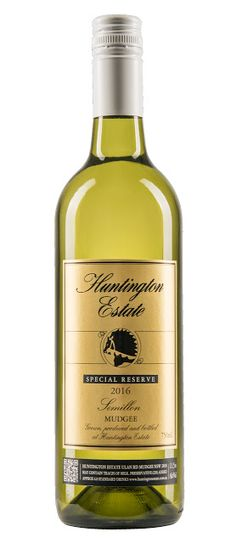 Huntington Estate Special Reserve Semillon 2016 - Grape Observer Whiskey Bottle, Wines, Journal, Journal Entries