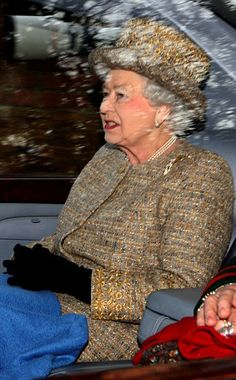 Her Majesty leaves church on the royal Sandringham estate in Norfolk after attending Sunday service today 05.01.2014