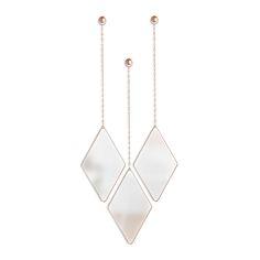 Discover the Umbra Dima Mirror - Set of 3 - Copper at Amara